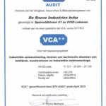 De Roeve Industries hernieuwt VCA**-certificaat